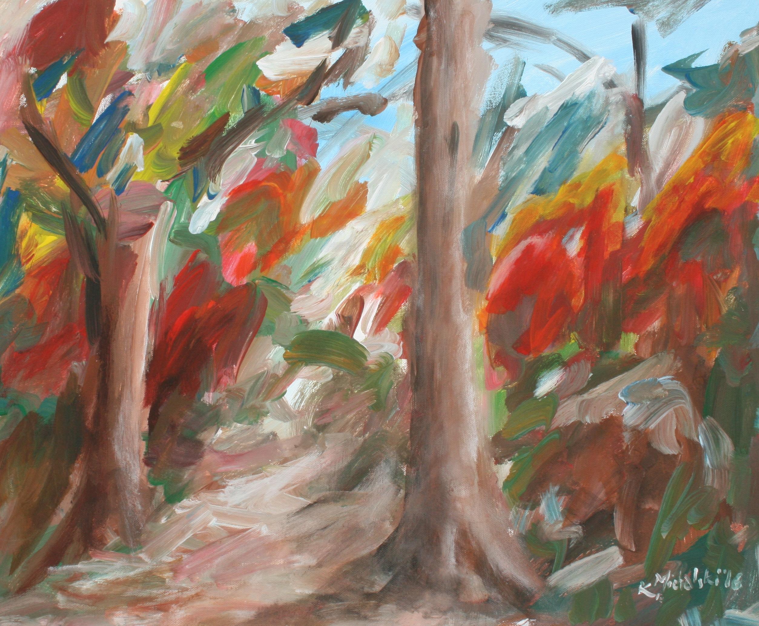 Herbstwald, 2016, 50 x 60, Acryl auf Leinwand