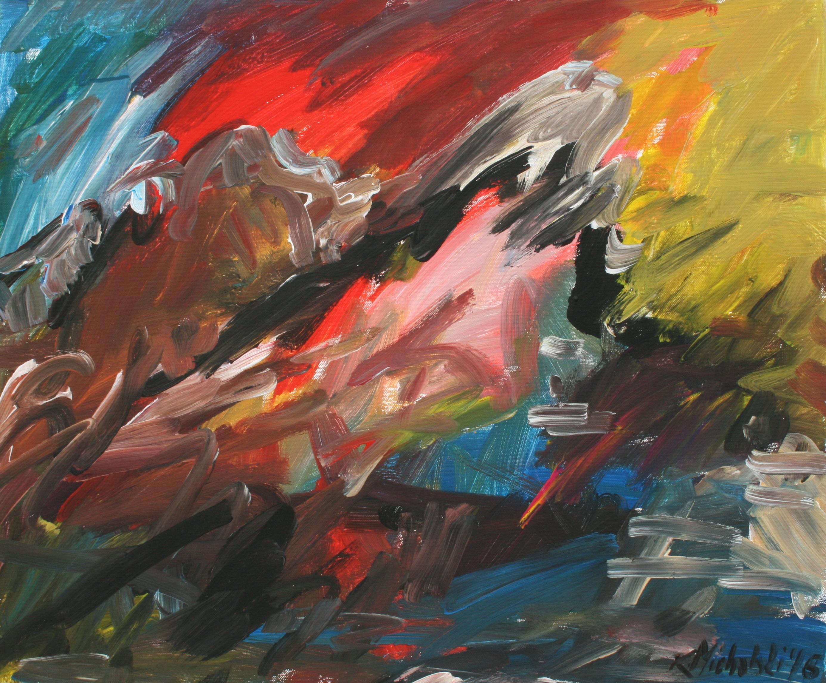 Marmolata, 2016, 50 x 60, Acryl auf Leinwand
