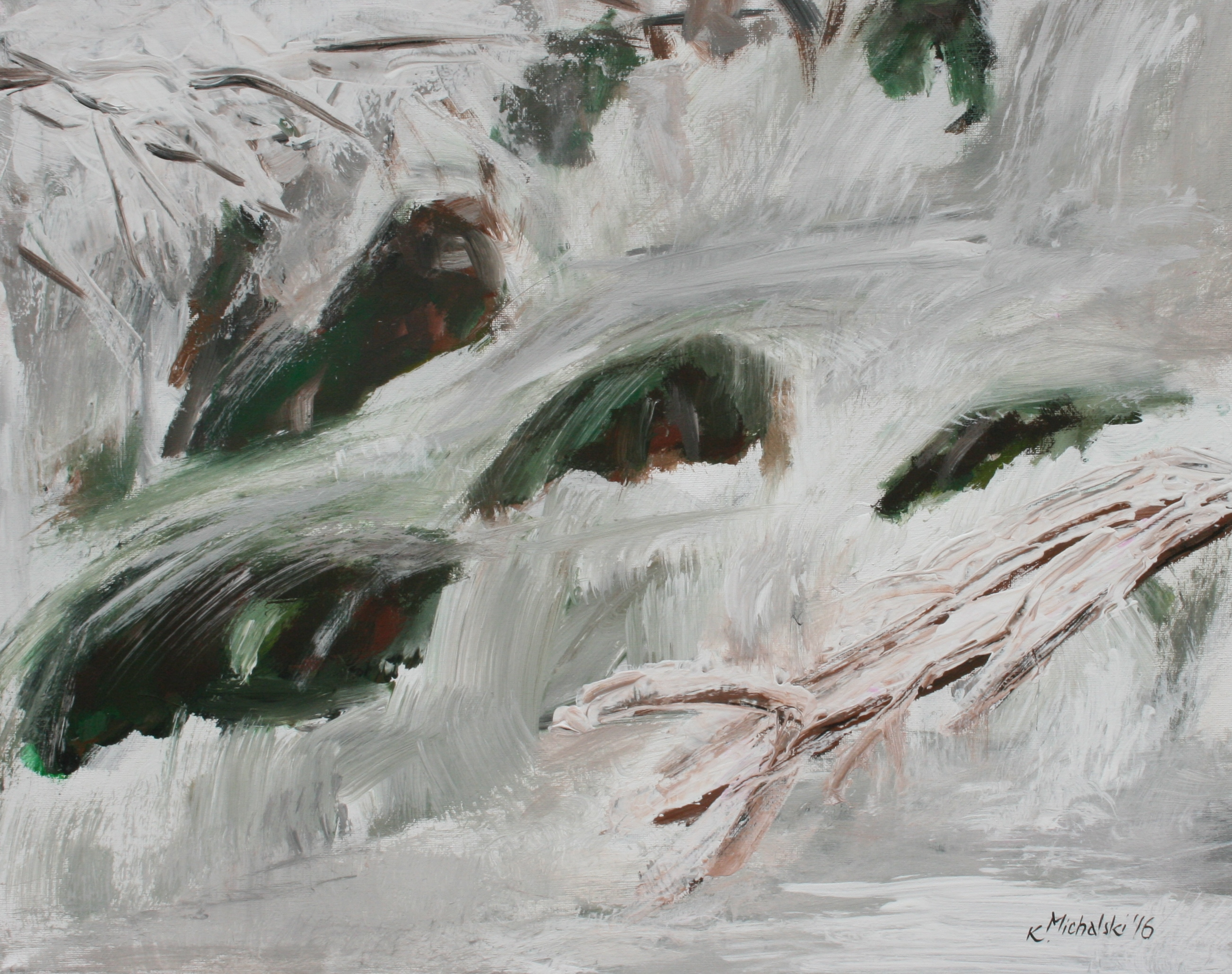 Winterbach, 2016, 40 x 50, Acryl auf Leinwand