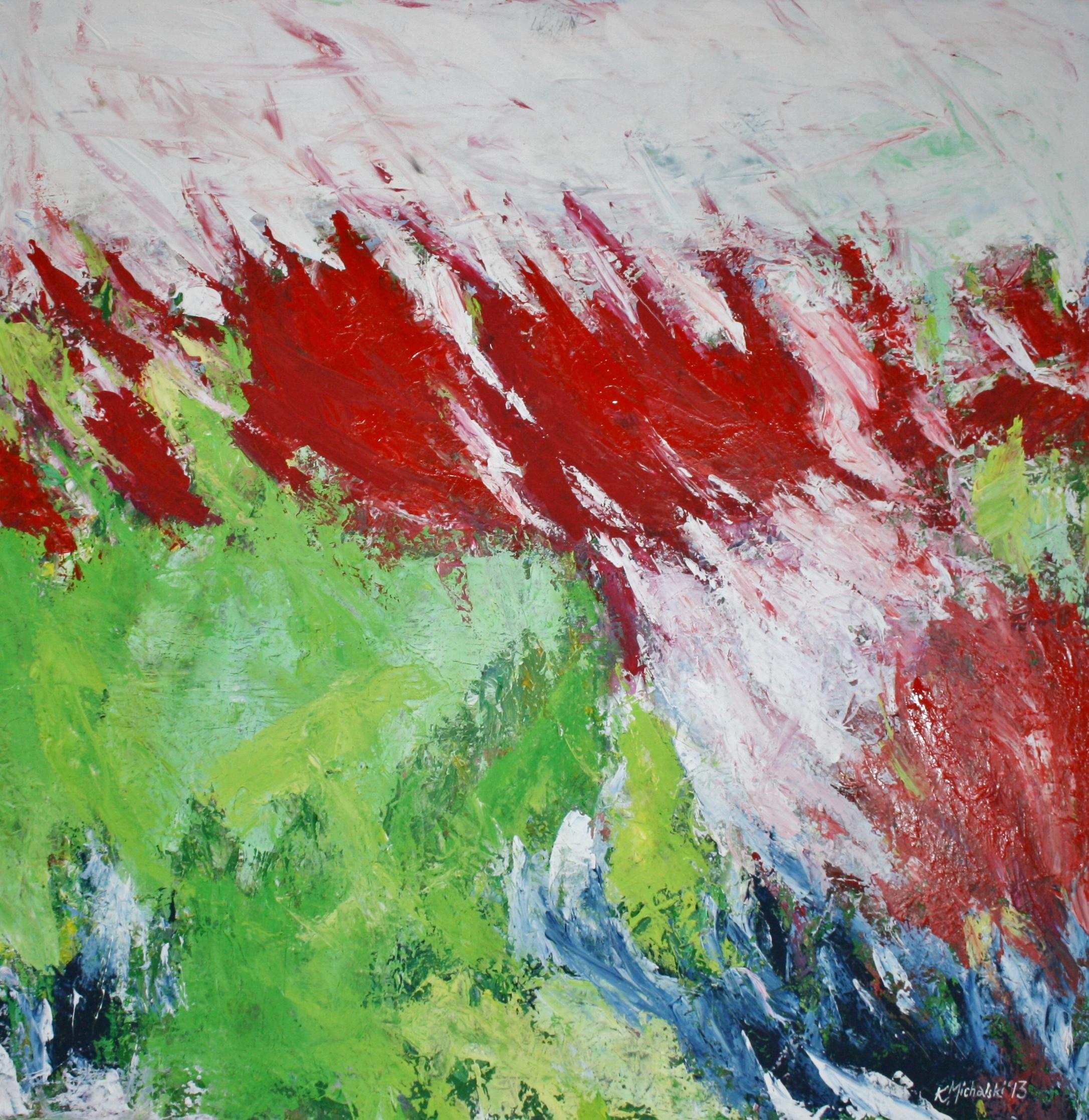 Vier Elemente, 2013, 100 x 100, Acryl auf Leinwand