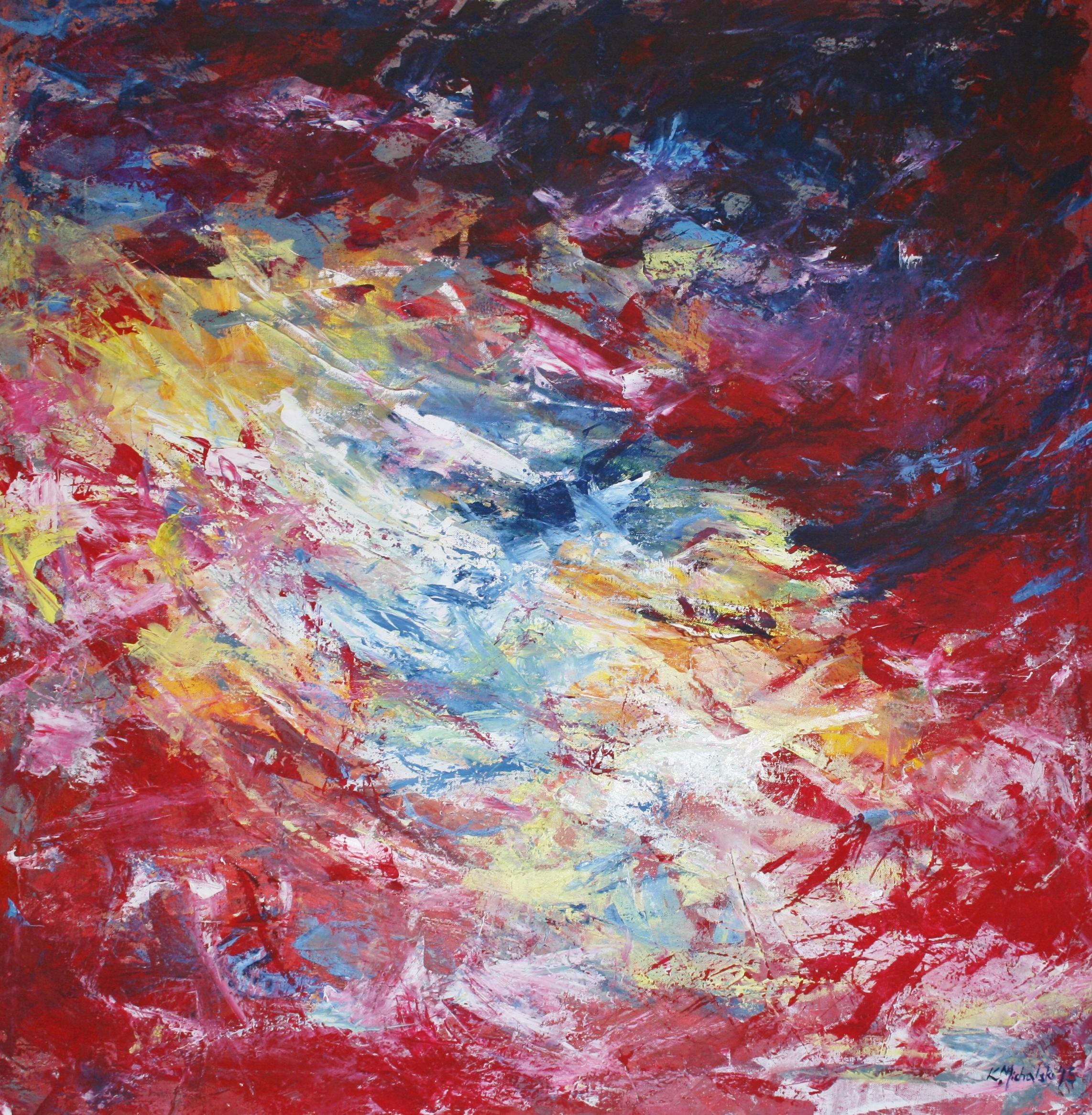 Himmelsloch, 2013, 100 x 100, Acryl auf Leinwand