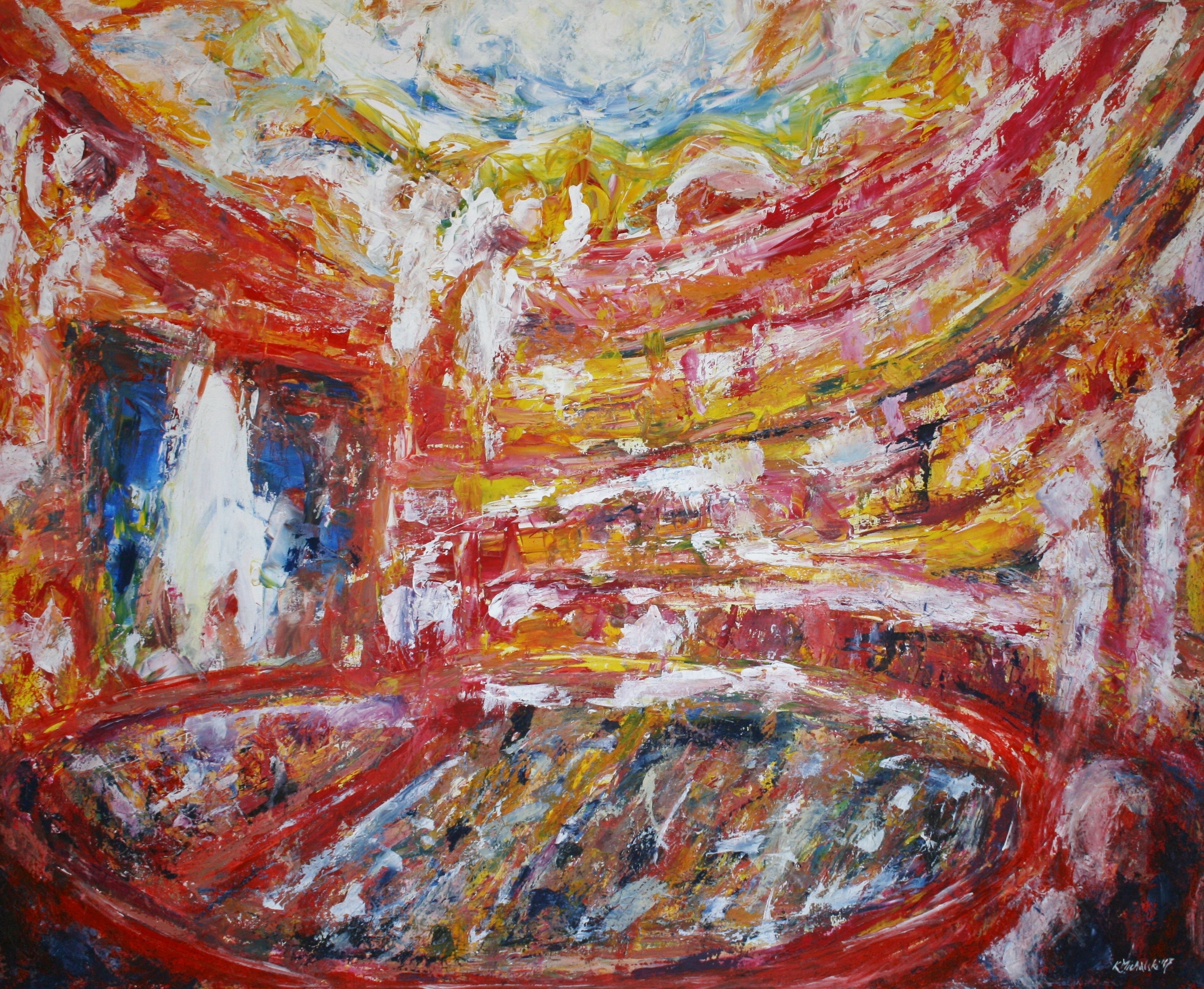 Oper, 2017, 120 x 150, Acryl auf Leinwand