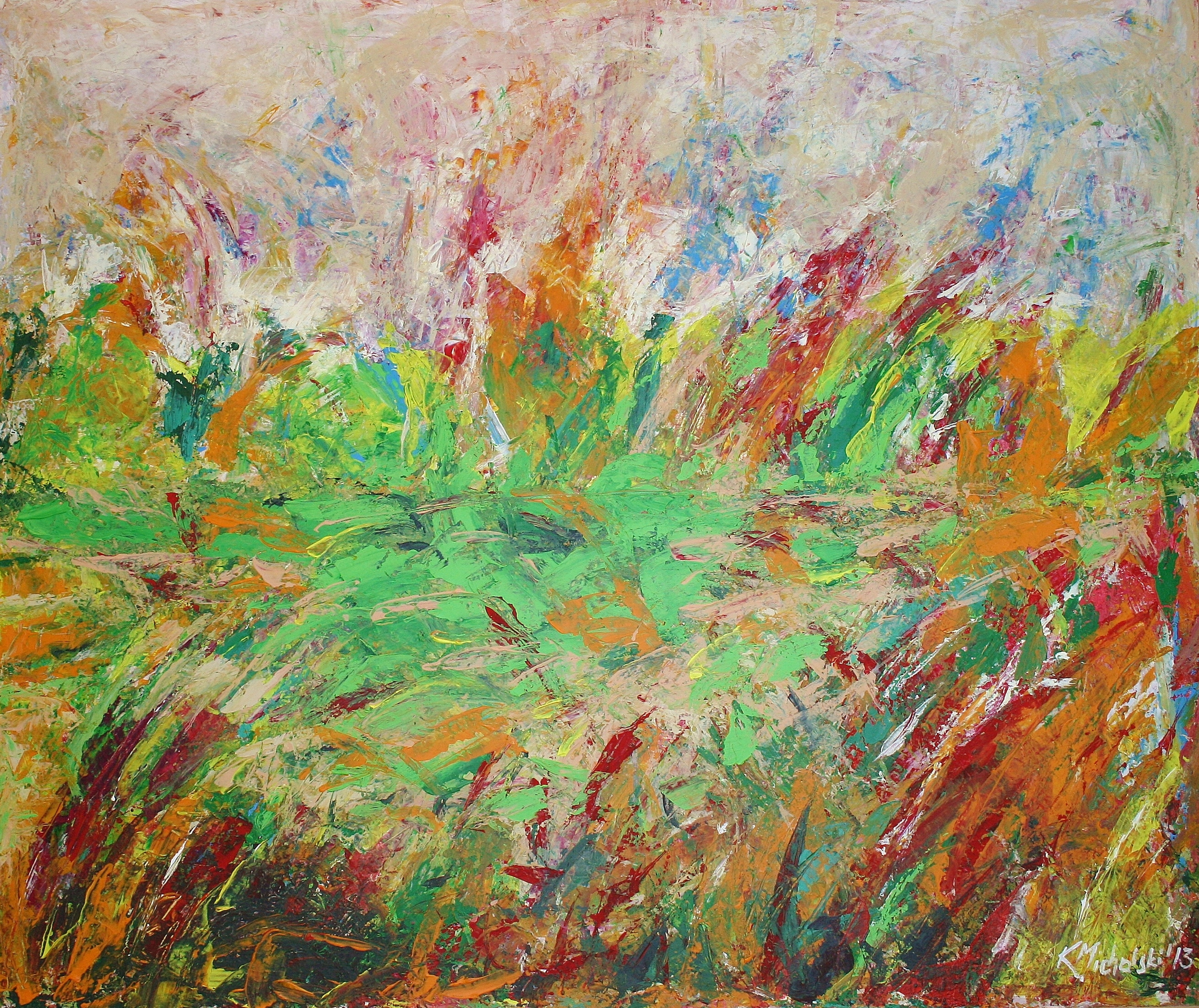 Sommer grün, 2013, 100 x 120, Acryl auf Leinwand