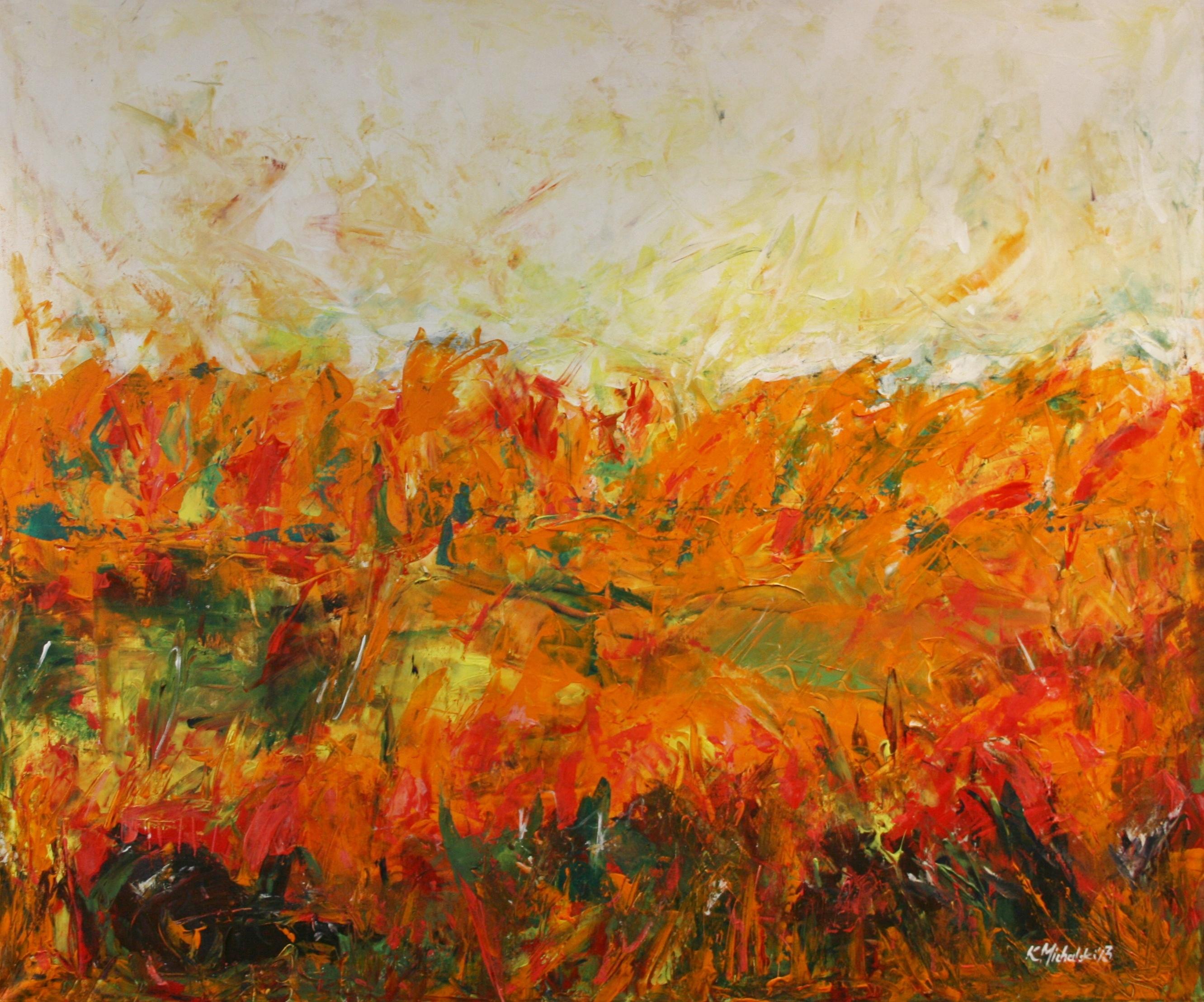 Herbst orange, 2013, 100 x 120, Acryl auf Leinwand