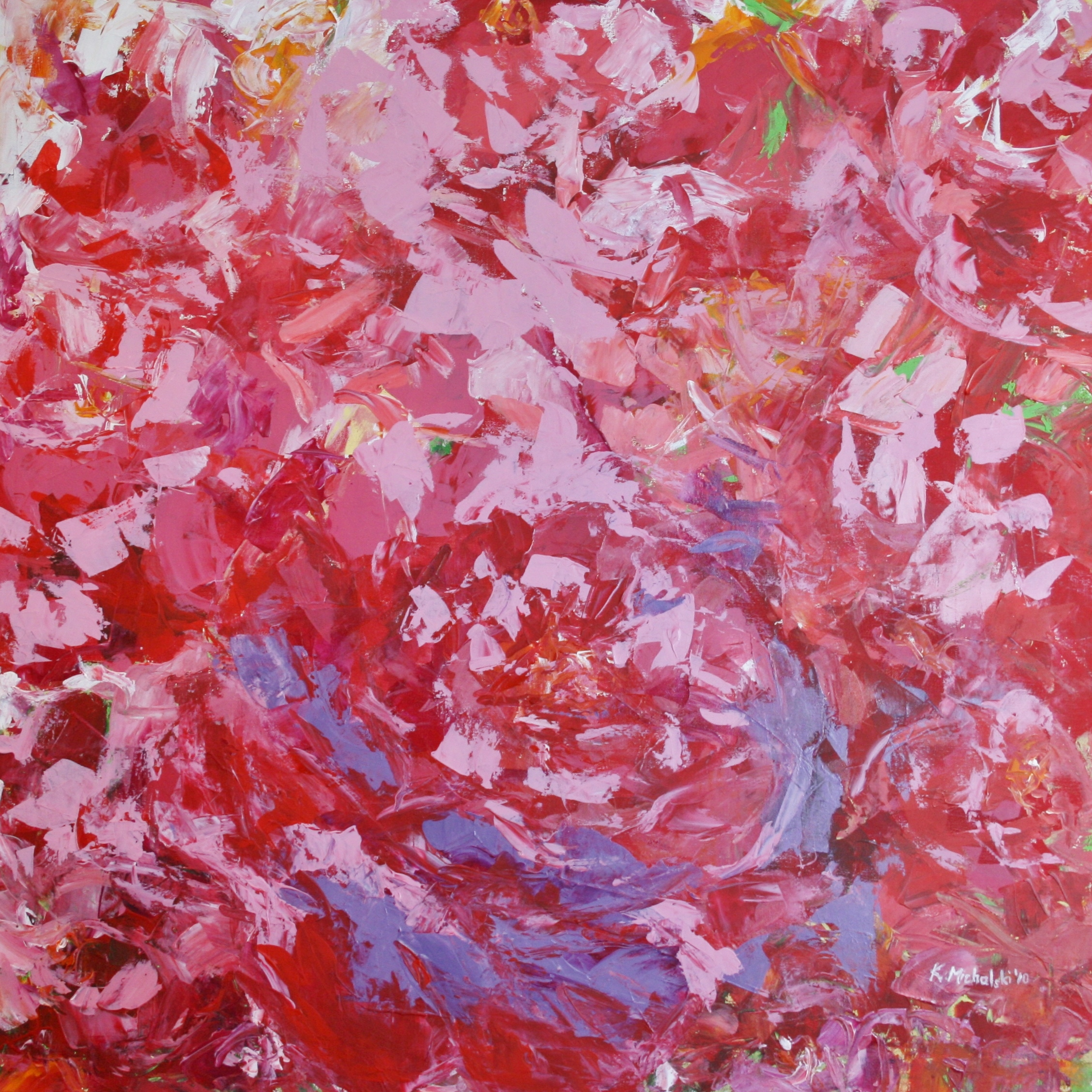 Pfingstrosen, 2010, 100 x 100, Acryl auf Leinwand