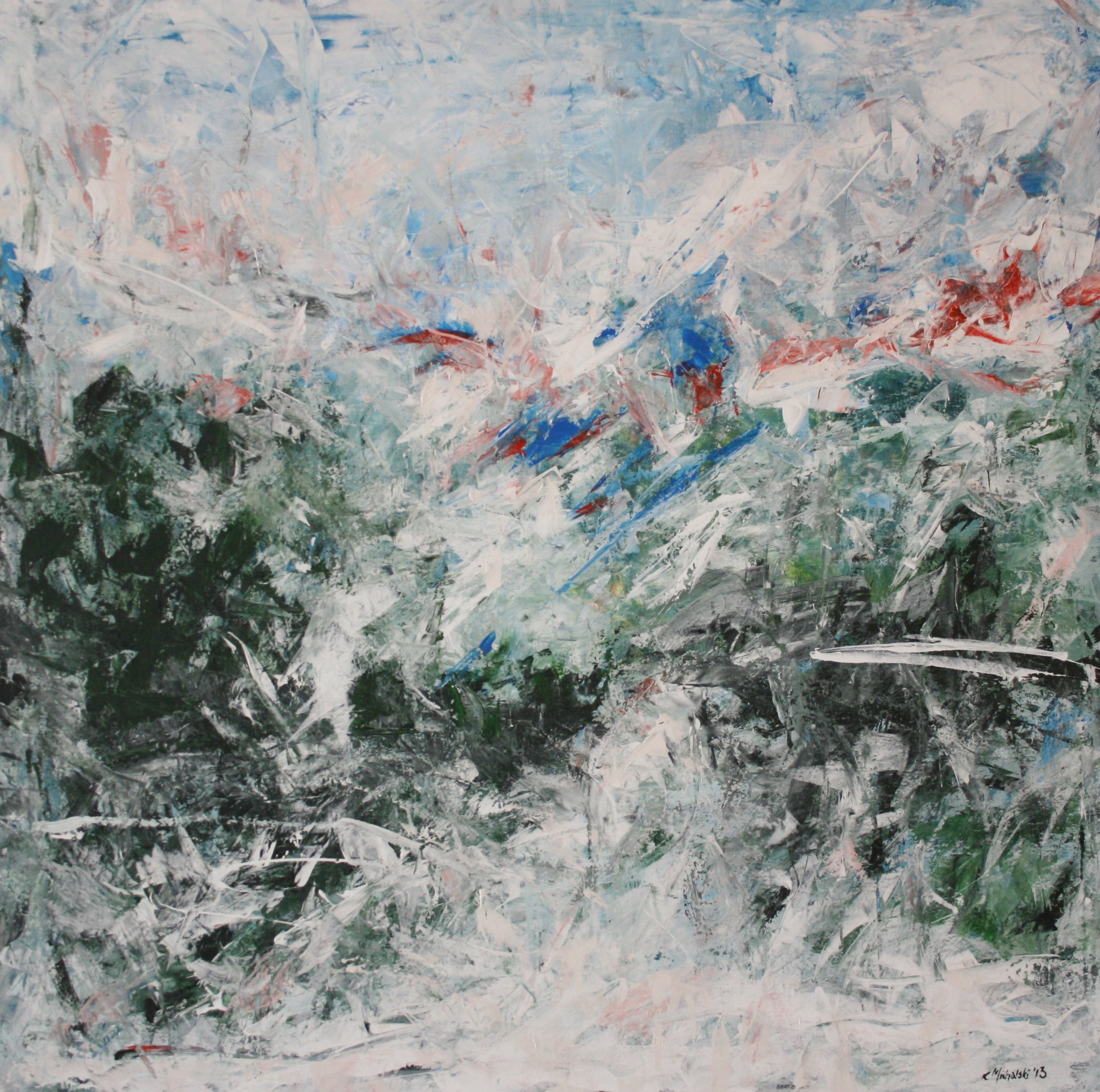 Winter, 2013, 100 x 100, Acryl auf Leinwand