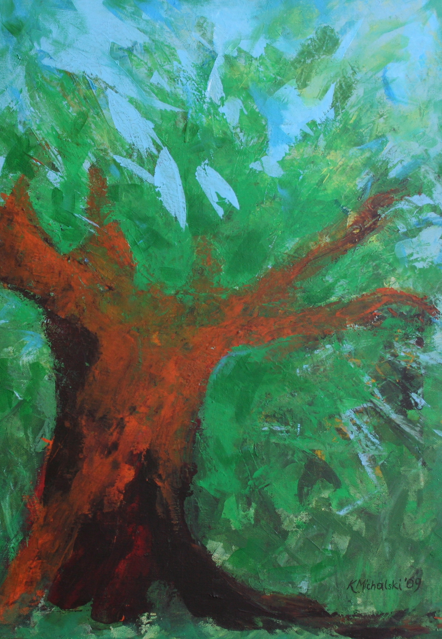 Der Baum, 2009, 70 x 50, Acryl auf Leinwand