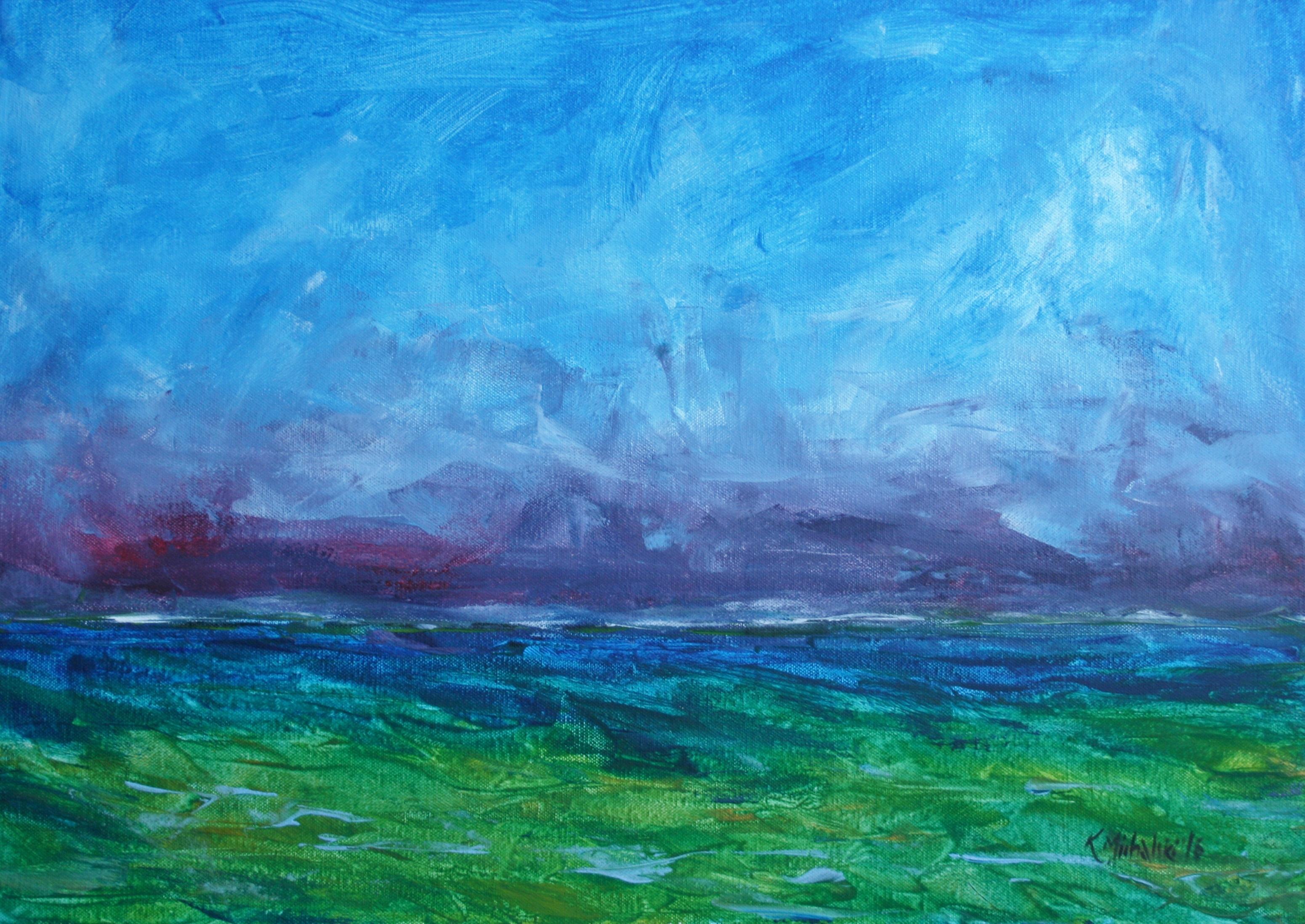 Meereslicht, 2016, 50 x 70, Acryl auf Leinwand