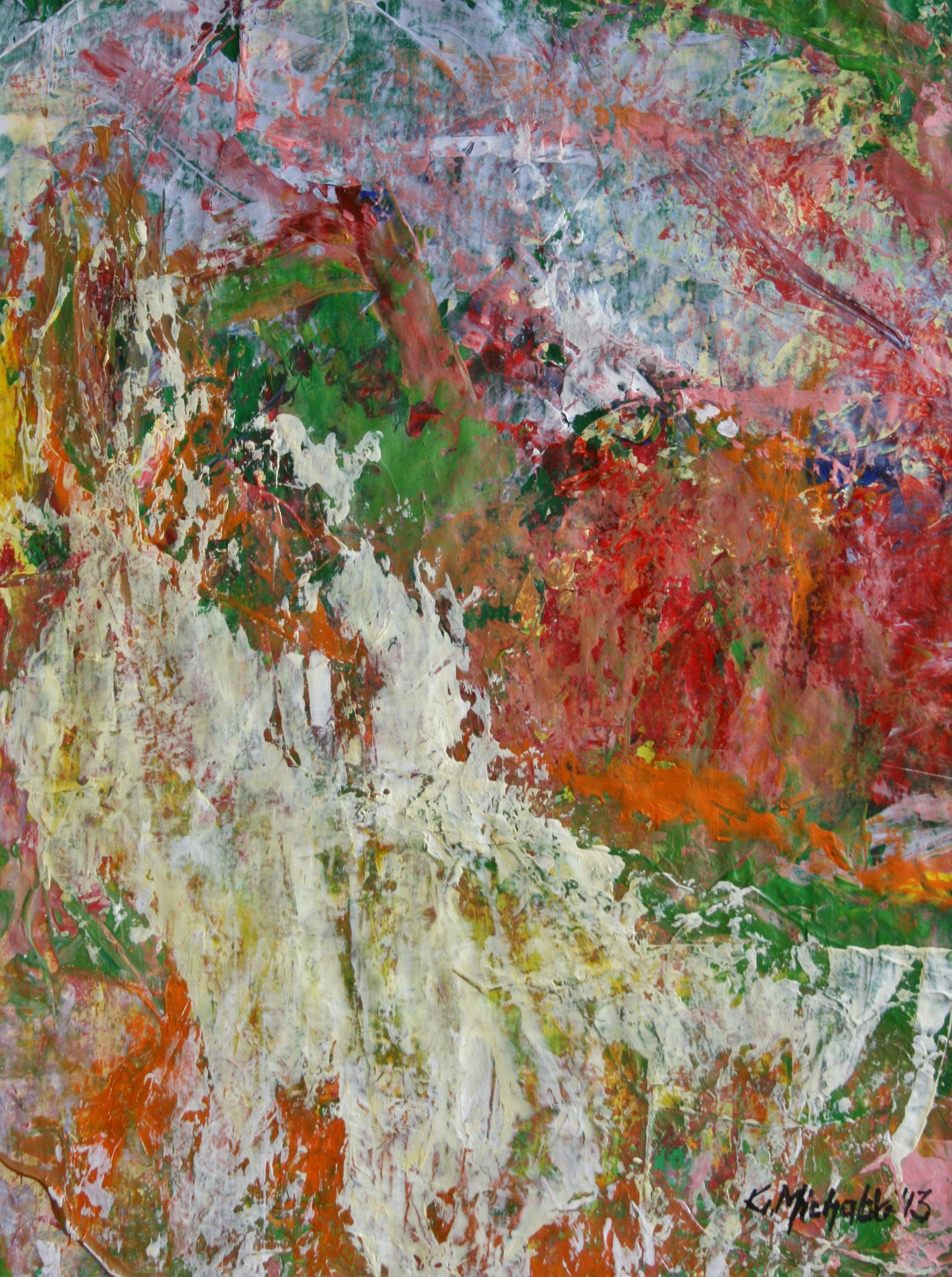 Berglandschaft, 2013, Acryl auf Papier