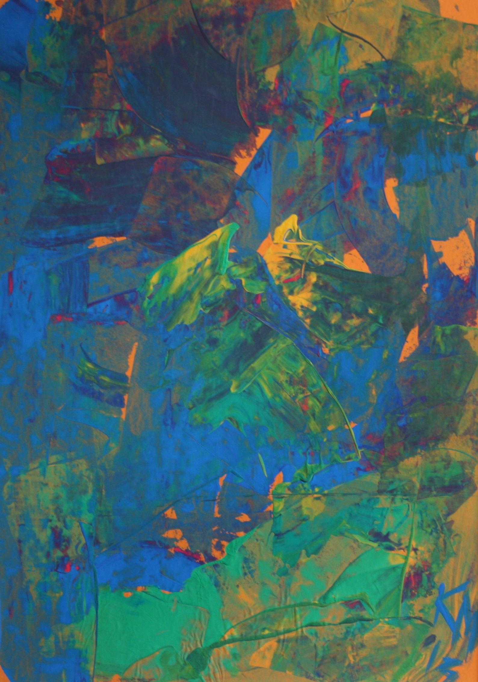 Fleiß, 2013, 72 x 52, Gouache auf Papier
