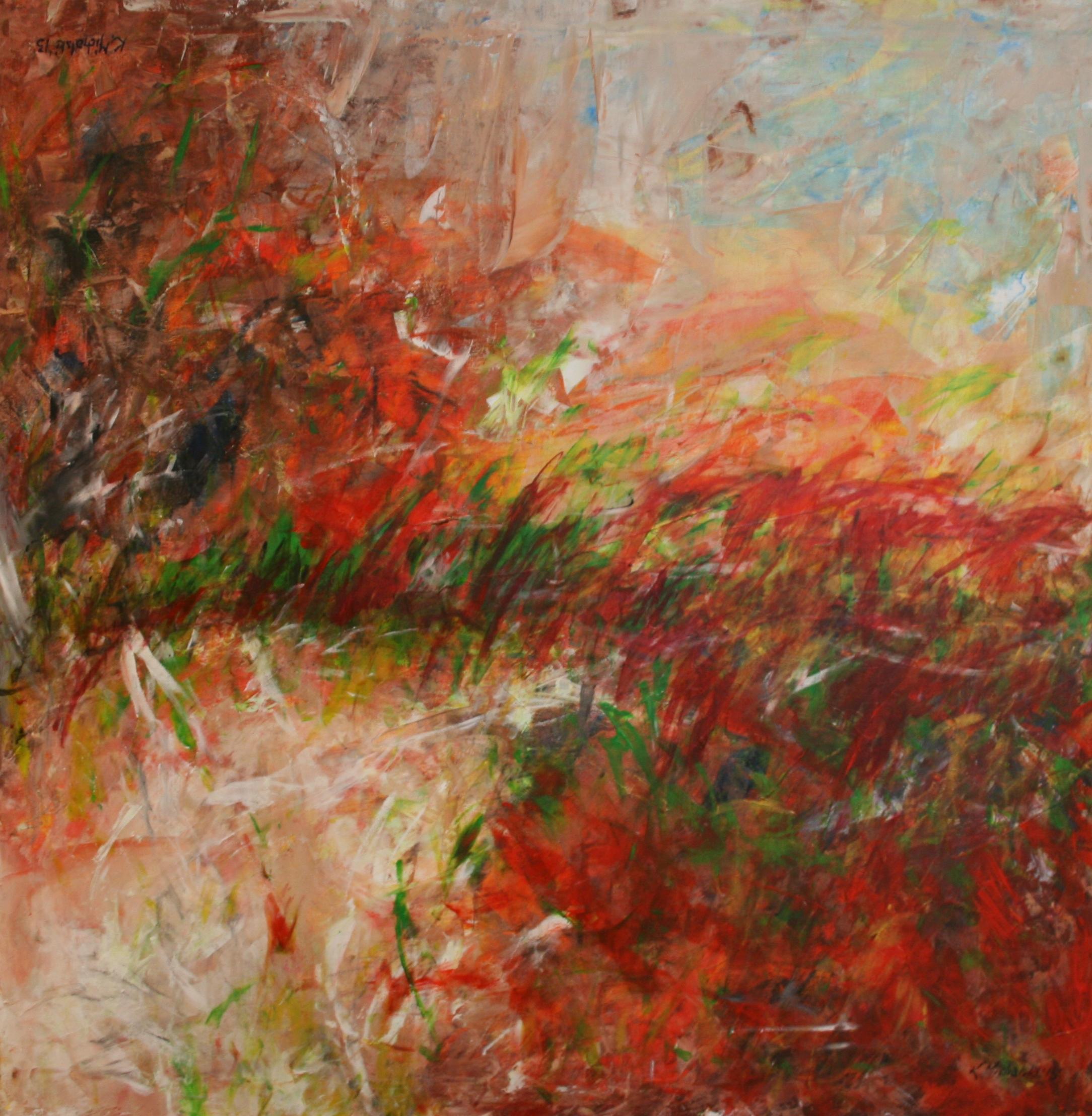 Vier Jahreszeiten, 2015, 100 x 100, Acryl auf Leinwand