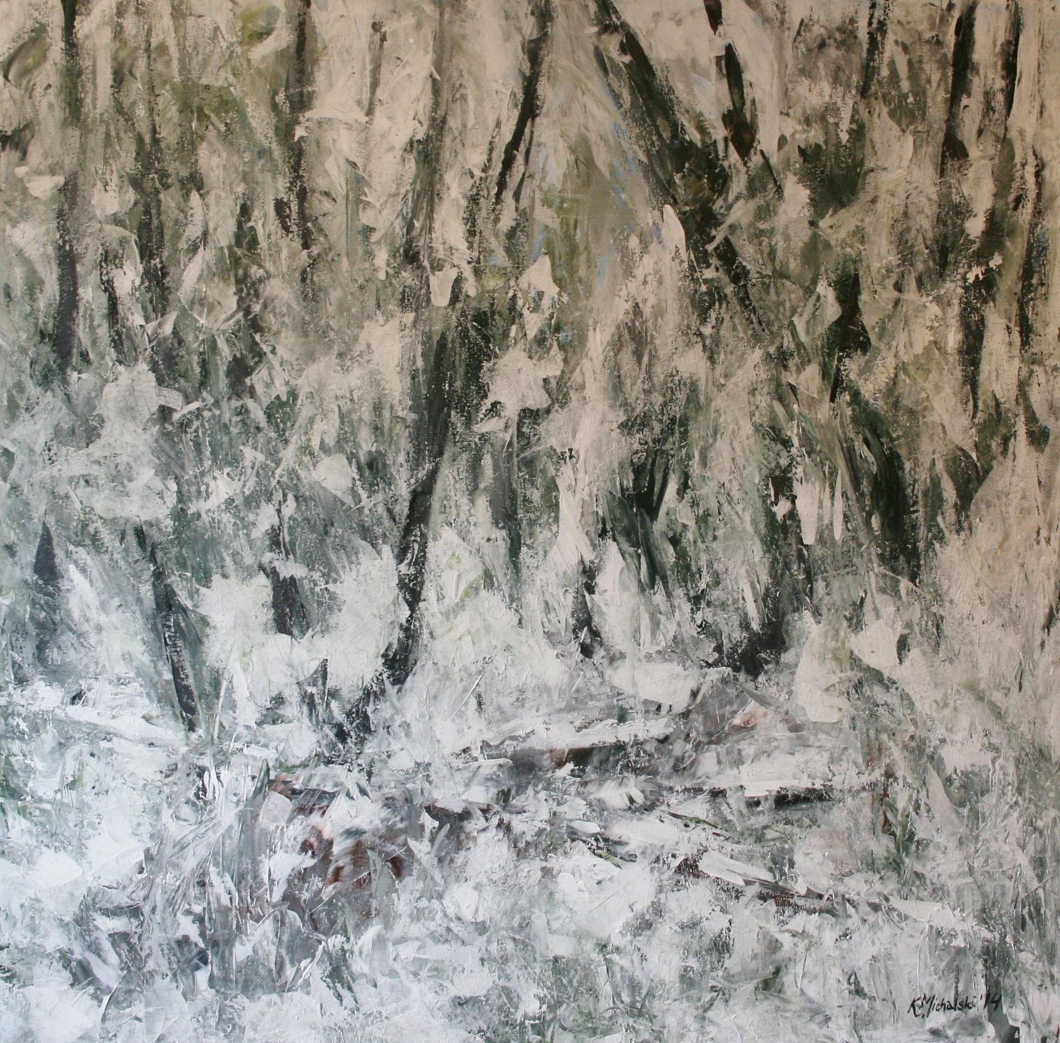 Die Wachtel, 2014, 100 x 100, Acryl auf Leinwand