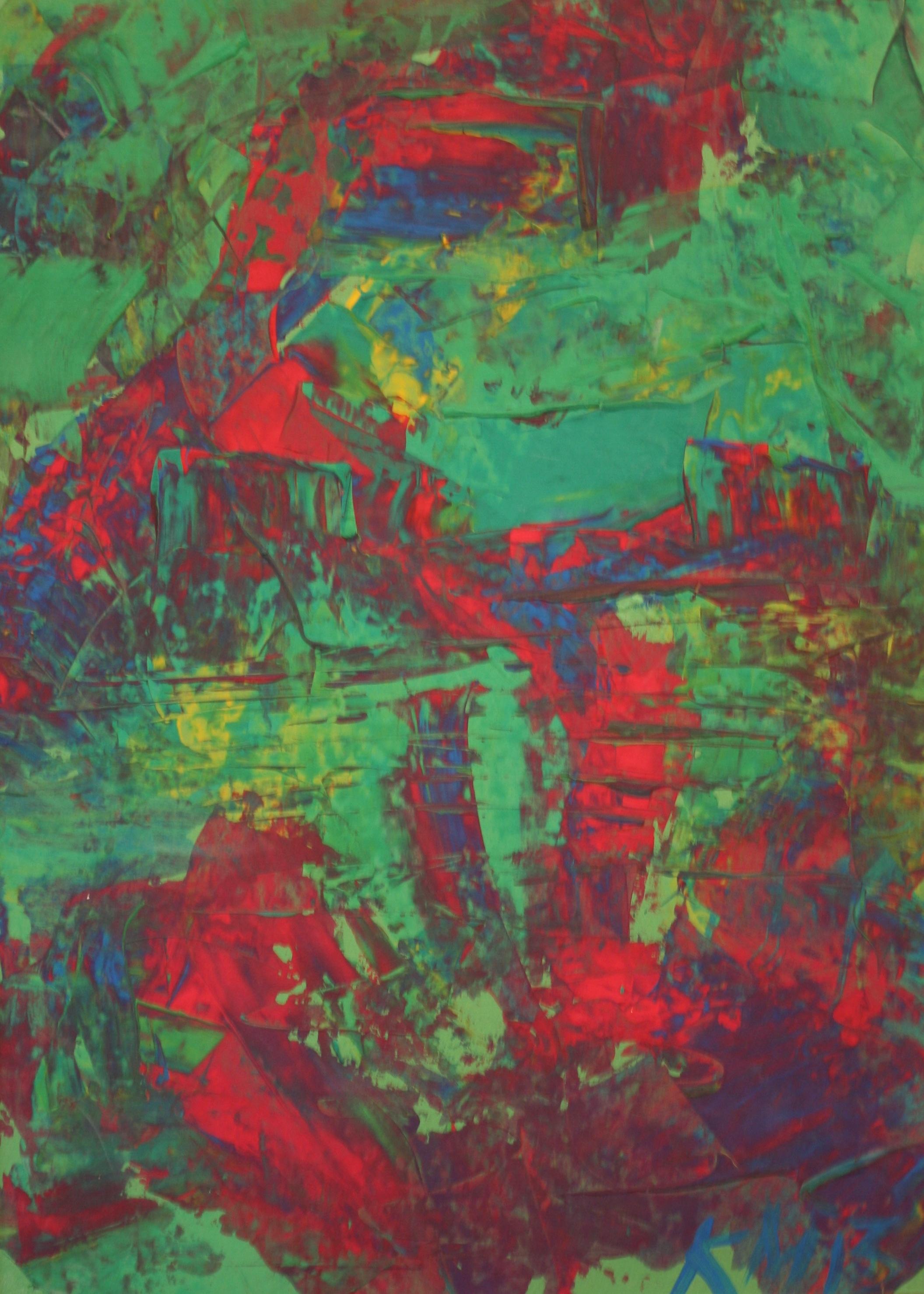 Spiegelungen, 2013, 72 x 52, Gouache auf Papier