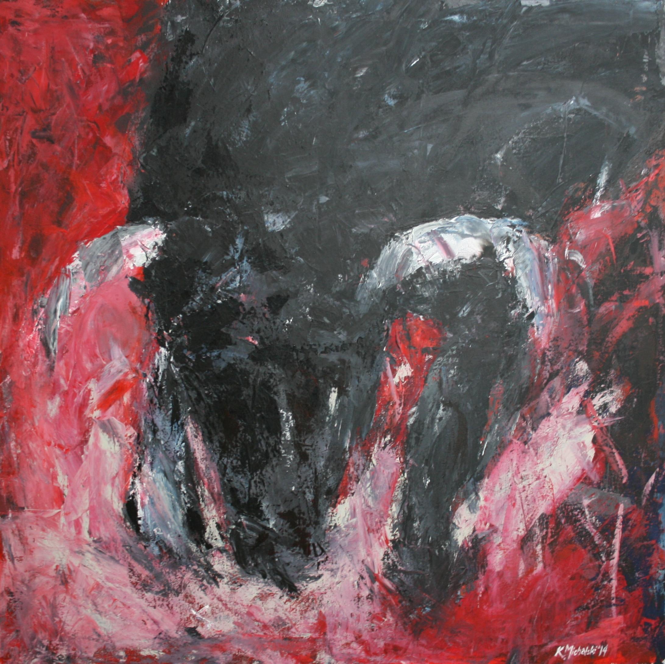 Der Stier, 2014, 100x100, Acryl auf Leinwand