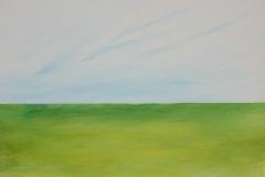 Horizont grün, 2016, 40 x 50, Acryl auf Leinwand