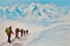 Expedition, 2016, 50 x 70, Acryl auf Leinwand