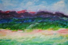 Strand, 2016, 100 x 100, Acryl auf Leinwand