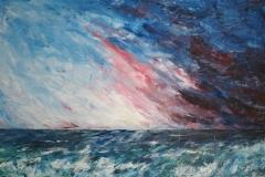 stürmisch, 2016, 80 x 120, Acryl auf Leinwand