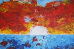 abends, 2009, 100 x 70, Acryl auf Leinwand