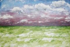 Das grüne Meer, 2015, 70 x 100, Acryl auf Leinwand