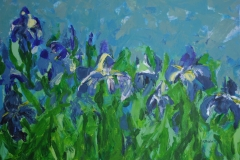Iris blau, 2011, 70 x 100, Acryl auf Leinwand
