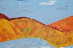Nackte Landschaft, 2009, 50 x 70, Acryl auf Leinwand