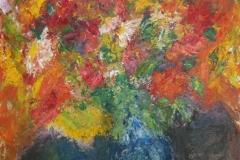 Sommerstrauß, 2015, 100 x 70, Acryl auf Leinwand