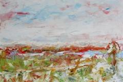 Die Aussicht, 2013, 100 x 100, Acryl auf Leinwand