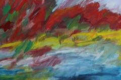 Am See, 2016, 60 x 50, Acryl auf Leinwand