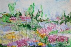 Italienische Landschaft, 2013, 50 x 70, Acryl auf Papier